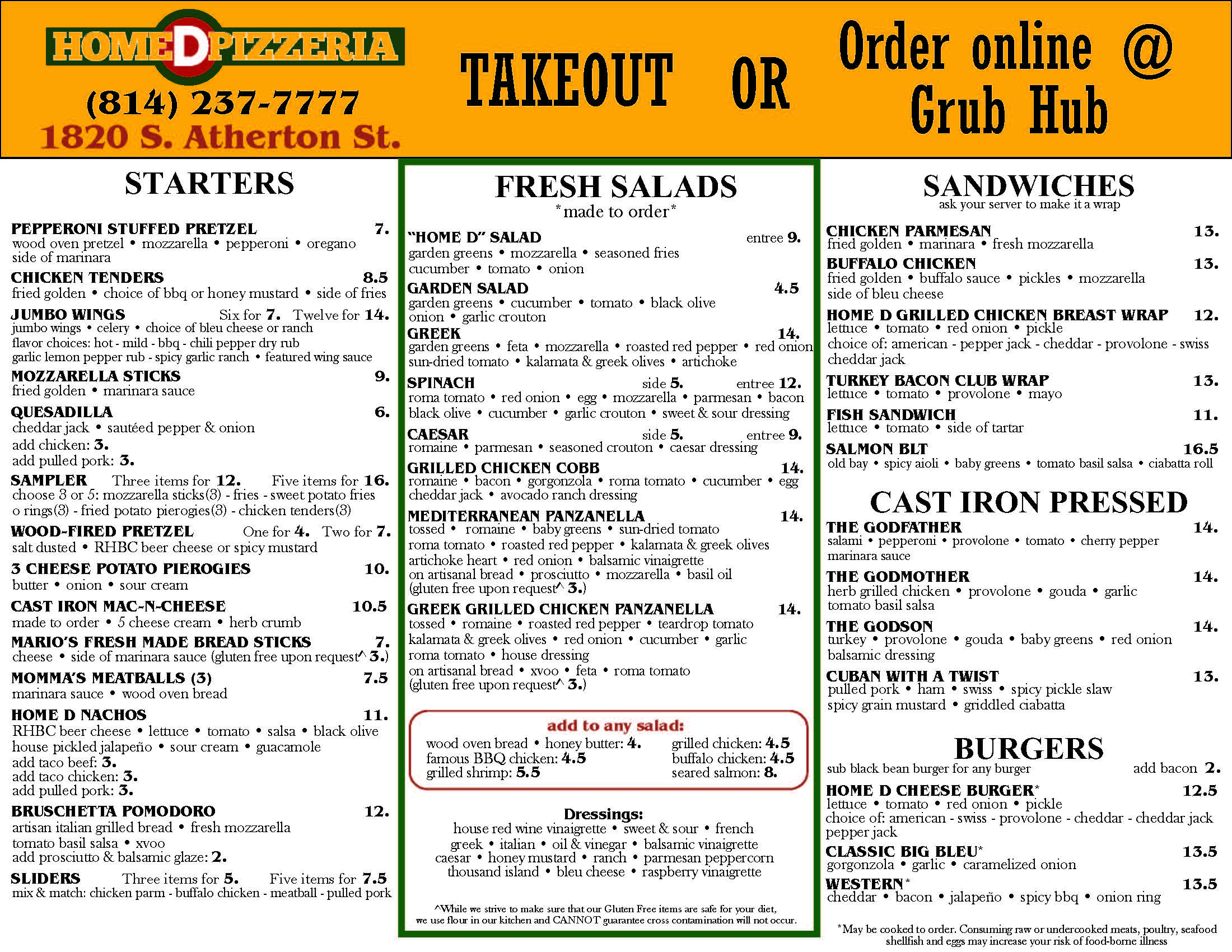 Takeout & Delivery Menu